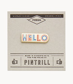 Pintrill® x Fossil Anstecker Hello