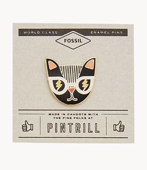 Pintrill® x Fossil Cat Pin