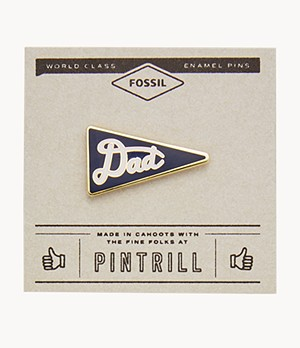 Pintrill® x Fossil Dad Flag Pin