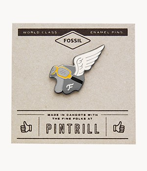 Pin's Casque Pintrill® x Fossil