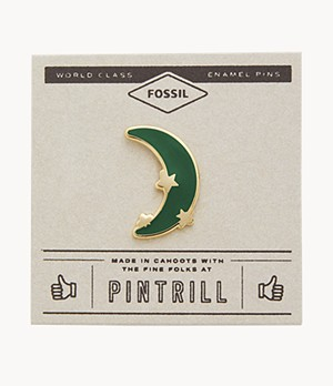 Pin's Étoile et lune Modern & Magic Pintrill® x Fossil