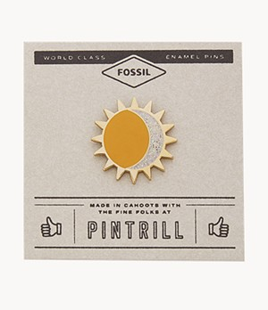Pintrill® x Fossil Anstecker - Modern Magic Sun + Moon