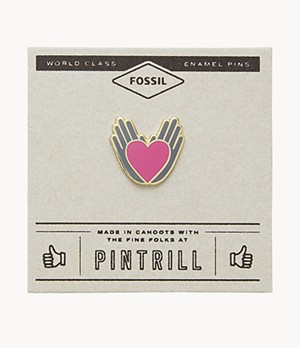 Pintrill x Fossil Hand & Heart Pin
