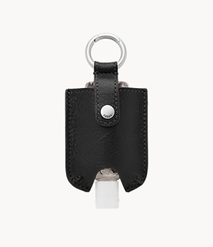 Hand Sanitizer and Black Leather Carrying Case