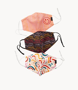 Pack of 3 Multi-Print Unisex Face Masks