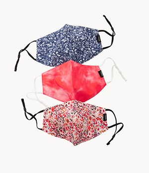 Pack of 3 Tie-Dye and Floral Unisex Face Masks