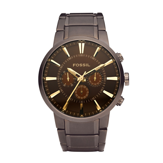 Dress Stainless Steel Watch - Brown