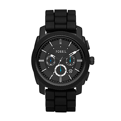 Machine Chronograph Silicone Watch - Black