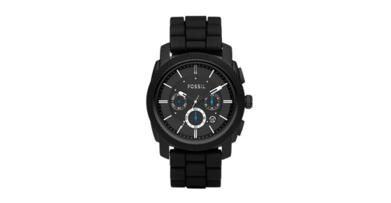 312e6a7d2dd Machine Chronograph Black Silicone Watch - Fossil