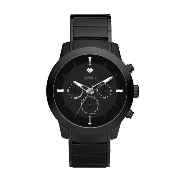 Dress Chronograph Stainless Steel Watch - Black