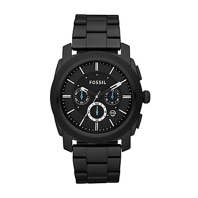 Machine Chronograph Stainless Steel Watch - Black