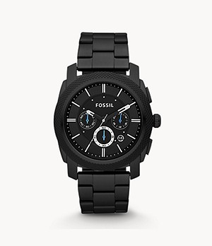 Machine Chronograph Black Stainless Steel Watch