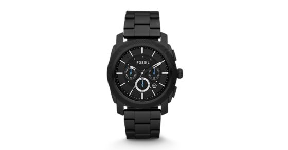 cb8217accd00 Machine Chronograph Black Stainless Steel Watch - Fossil