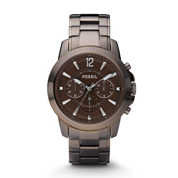 Grant Plated Stainless Steel Watch - Brown