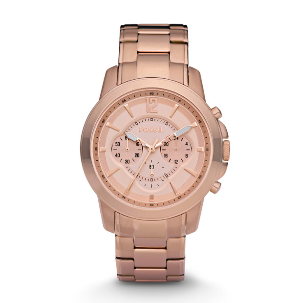 Grant Chronograph Stainless Steel Watch – Rose