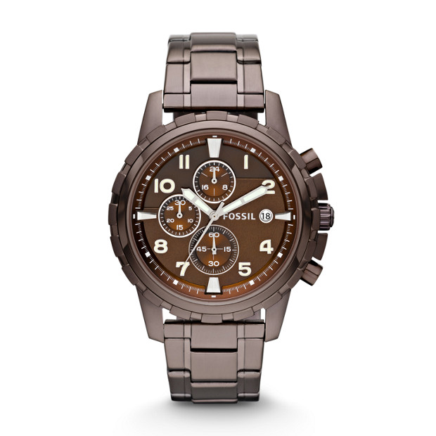 Dean Chronograph Stainless Steel Watch -  Brown
