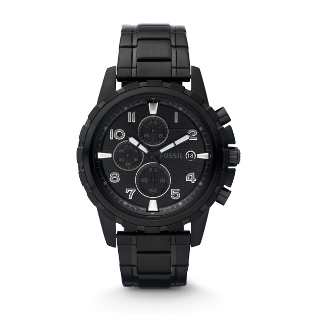 Dean Chronograph Stainless Steel Watch -  Black