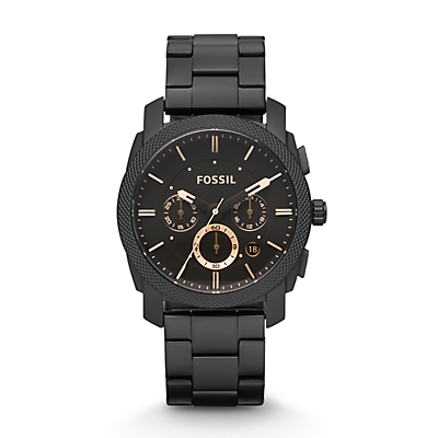 Machine Mid-Size Chronograph Stainless Steel Watch - Black