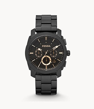 Machine Mid-Size Chronograph Black Stainless Steel Watch