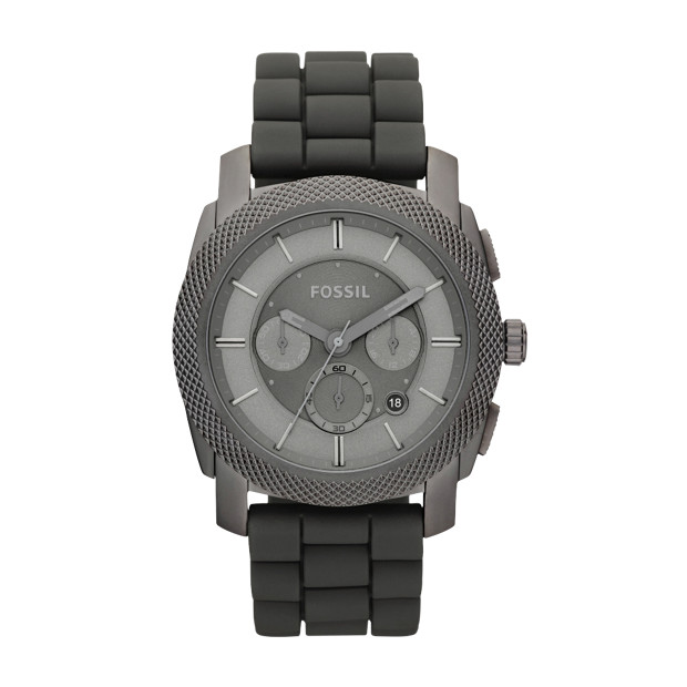 Machine Stainless Steel and Silicone Watch – Grey