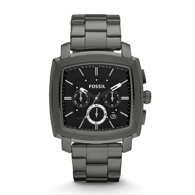 Machine Chronograph Stainless Steel Watch - Smoke