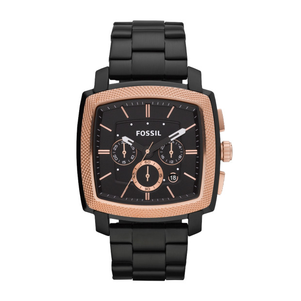 Machine Stainless Steel Watch – Black with Rose