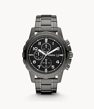 Dean Chronograph Smoke Stainless Steel Watch