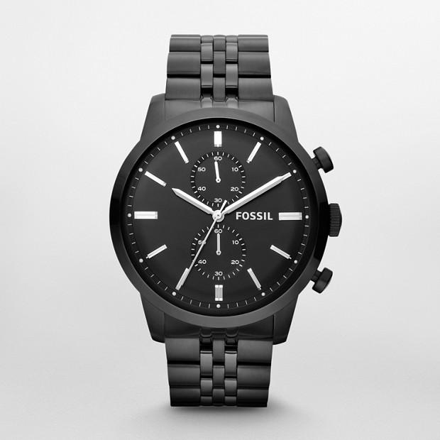 Townsman Chronograph Black Stainless Steel Watch