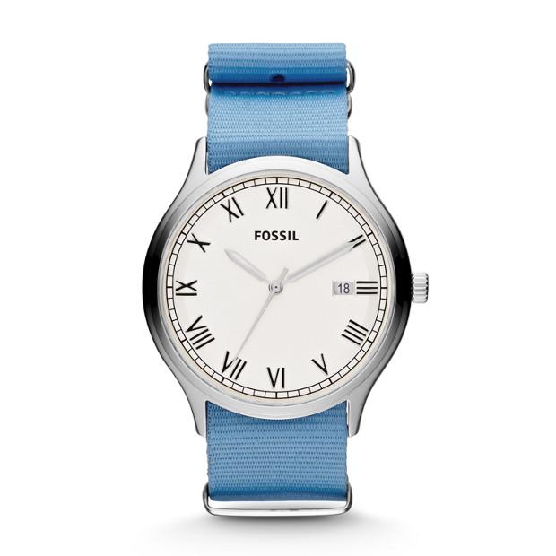 Ansel Three Hand Nylon Watch - Blue