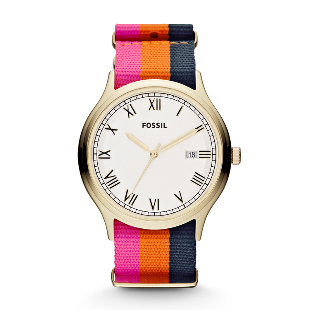 Ansel Three Hand Nylon Watch - Stripe