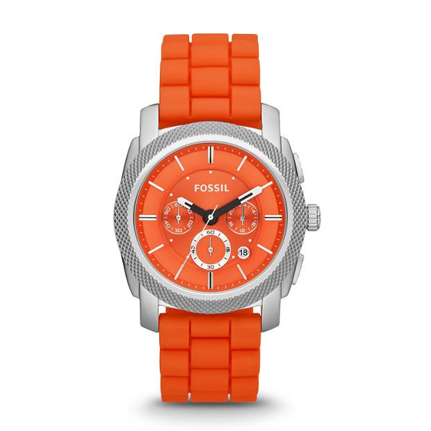 Machine Chronograph Silicone Watch - Orange