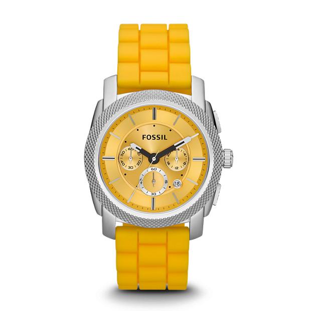 Machine Chronograph Silicone Watch - Yellow