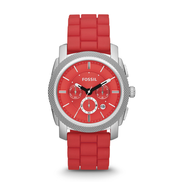 Machine Chronograph Silicone Watch - Red
