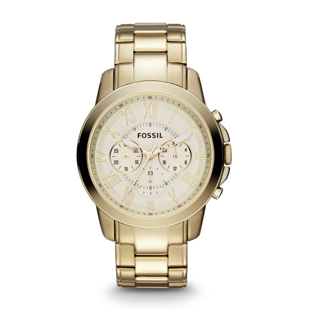 Grant Chronograph Gold-Tone Stainless Steel Watch