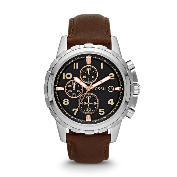 Dean Chronograph Brown Leather Watch