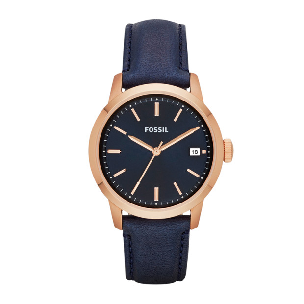 TOWNSMAN Three Hand Leather Watch - Blue