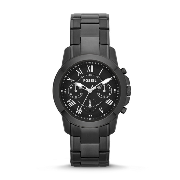 Grant Chronograph Stainless Steel Watch - Black