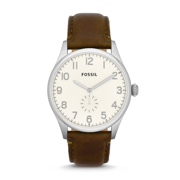 The Agent Brown Leather Watch