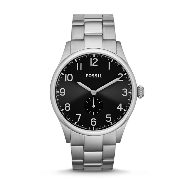 The Agent Three-Hand Stainless Steel Watch