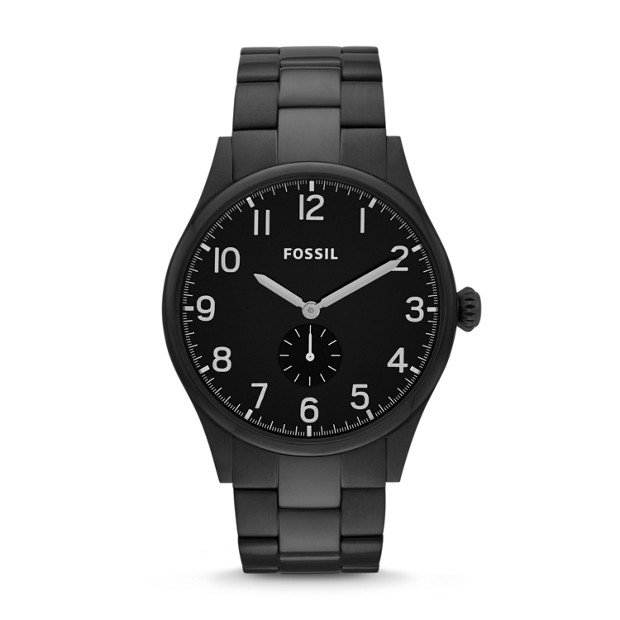 The Agent Black Stainless Steel Watch