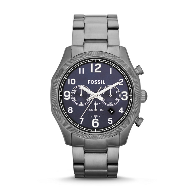 Foreman Chronograph Stainless Steel Watch - Smoke
