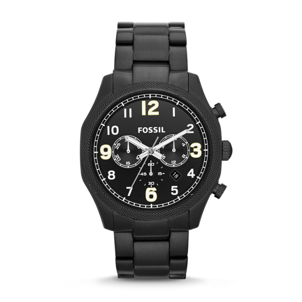 Foreman Chronograph Stainless Steel Watch - Black
