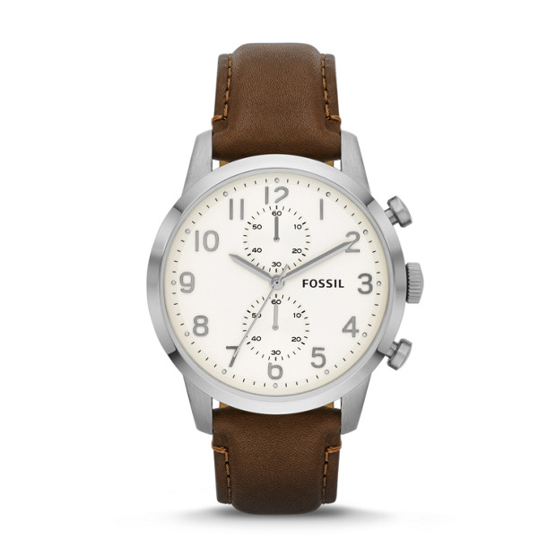 Townsman Chronograph Leather Watch - Brown