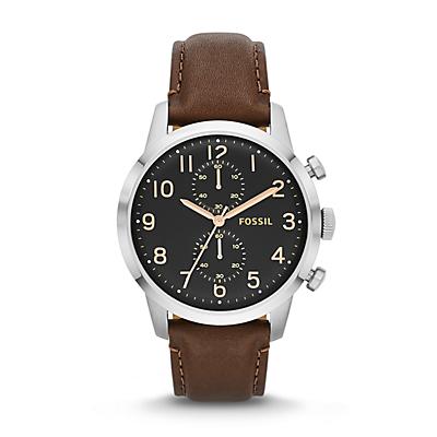 Townsman Chronograph Leather Watch - Brown