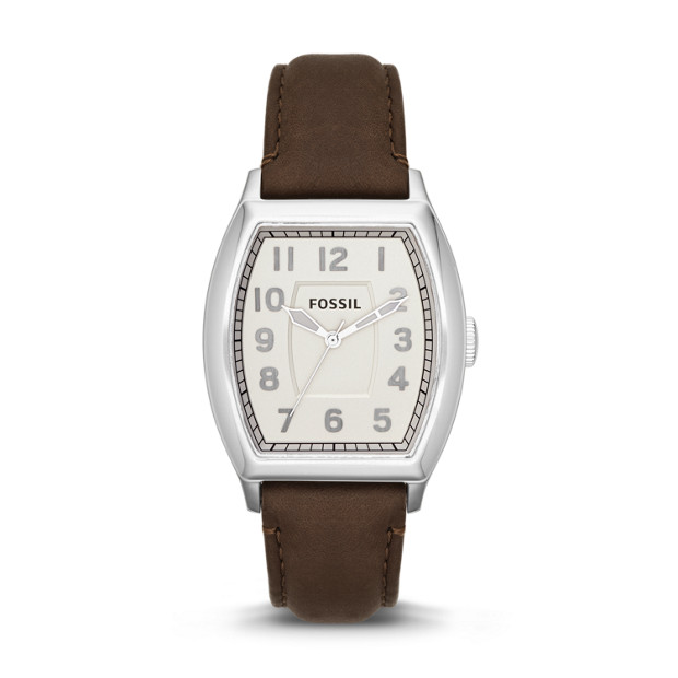 Narrator Three-Hand Leather Watch - Brown