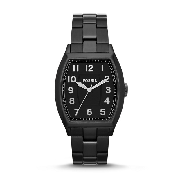 Narrator Three-Hand Stainless Steel Watch - Black