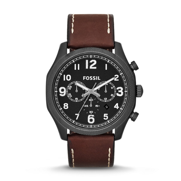 Foreman Chronograph Brown Leather Watch
