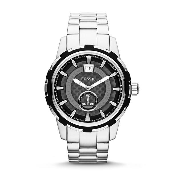 Dean Three-Hand Date Stainless Steel Watch