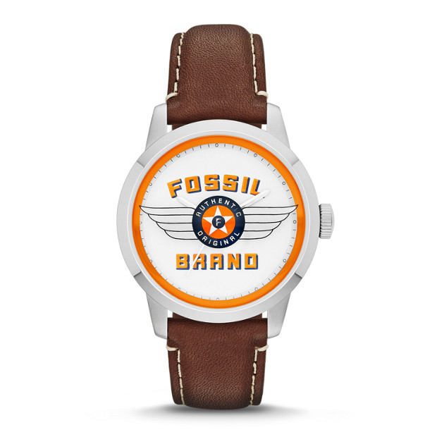 Special Edition Townsman Three-Hand Leather Watch - Brown