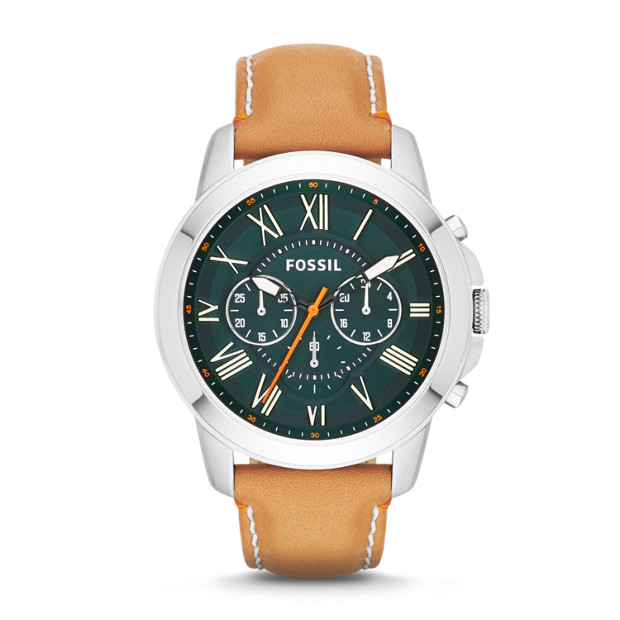 Grant Chronograph Tan Leather Watch